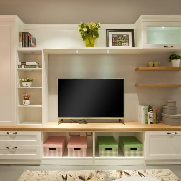 宜家风格 客厅家具组合 定制电视柜 武汉全房定制 板演定制家