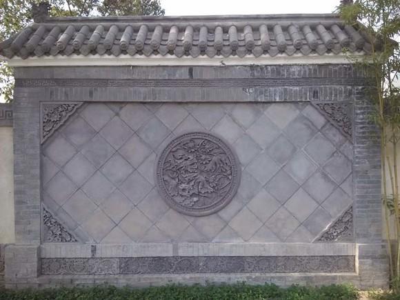 唐语砖雕 中式仿古装修 影壁墙装饰角花 荷花角花60*60cm|ty-s232