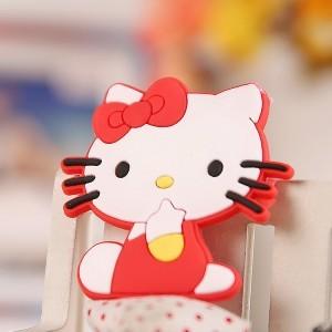 可爱动物冰箱贴 卡通立体软胶磁吸铁石-红猫