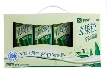 蒙牛芦荟味真果粒牛奶饮料(250*12)