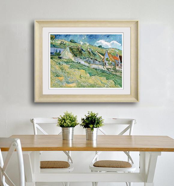 现代欧式简欧印象派梵高花卉客厅餐厅过道走廊画