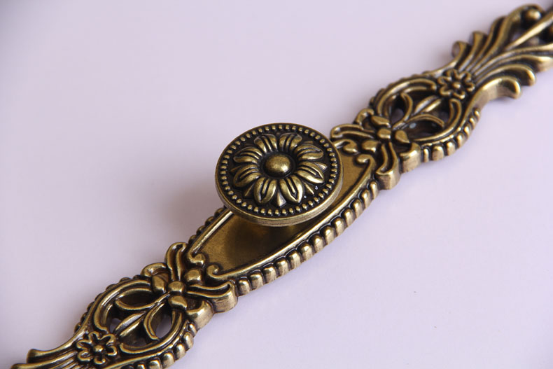 欧式青古铜仿古拉手橱柜衣柜门把手抽屉衣柜家具花纹