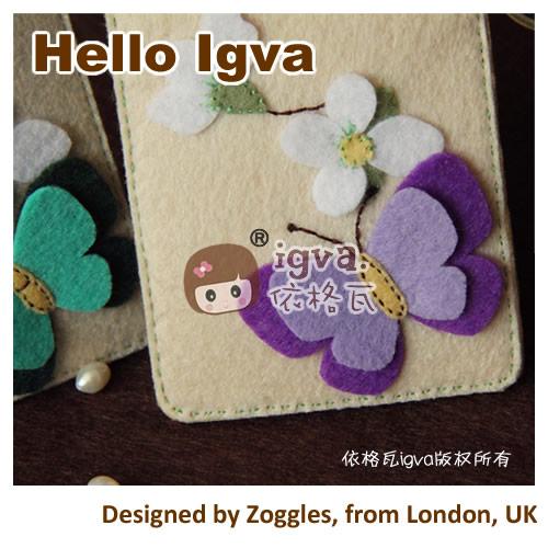不织布 材料包 布织布 蝴蝶卡套一对 手工布艺diy材料