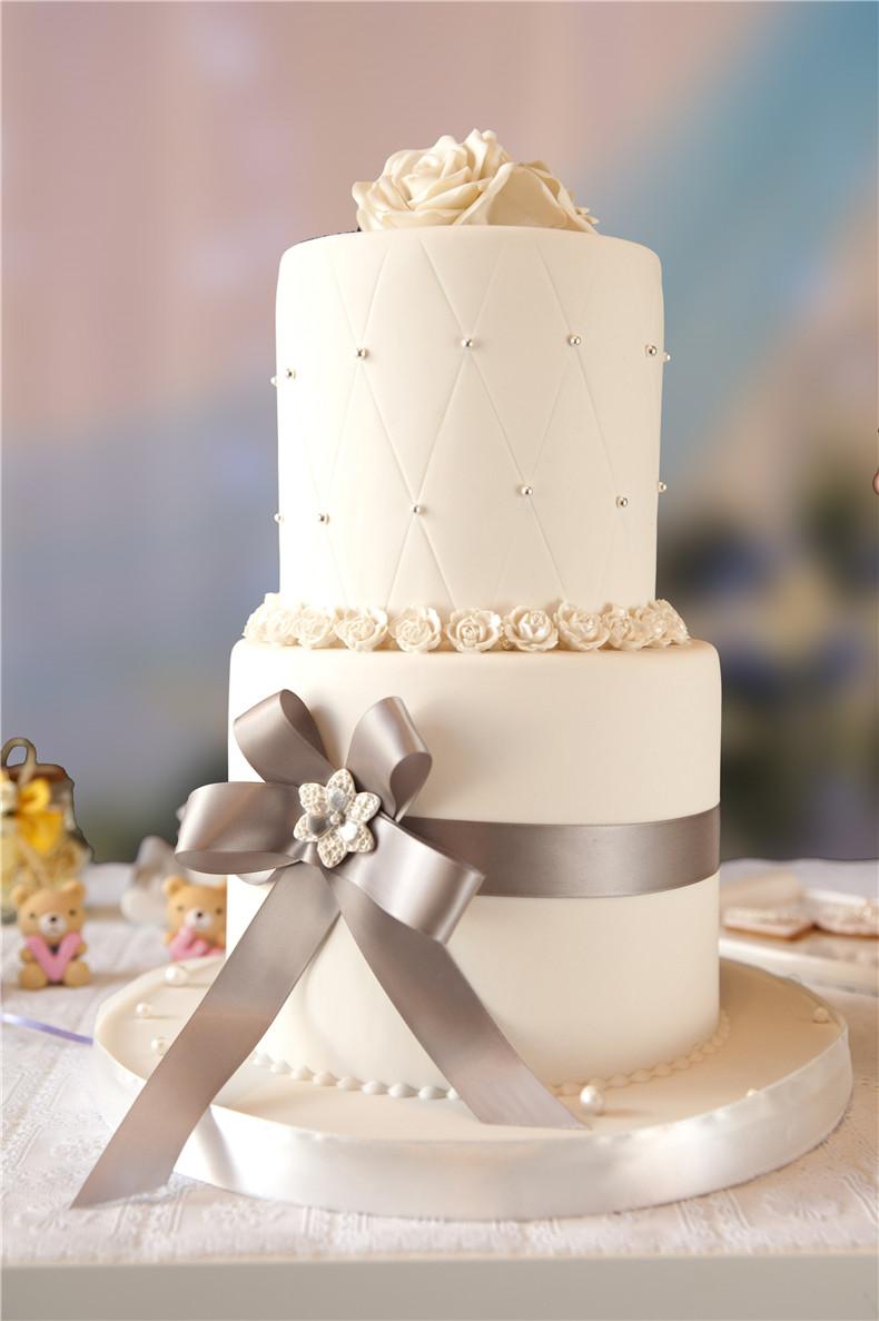 【圣洁永恒】婚礼翻糖蛋糕