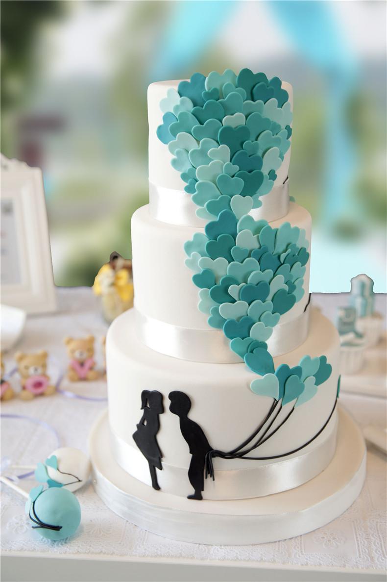 【相约爱情海】婚礼翻糖蛋糕
