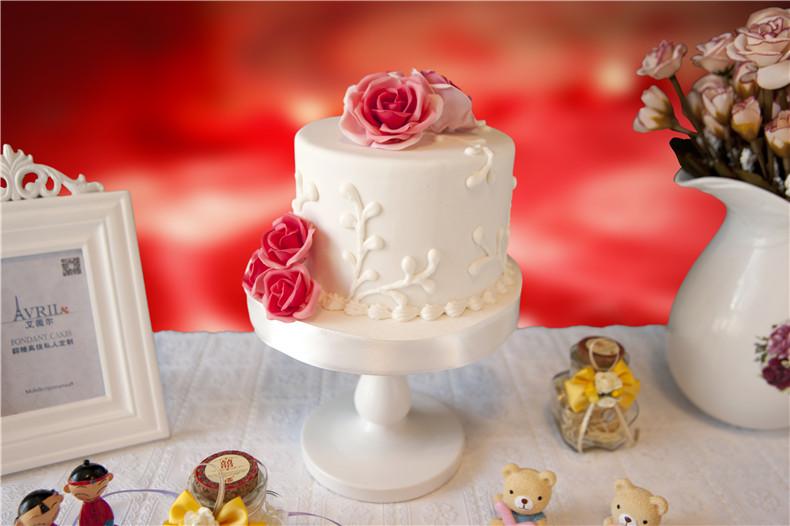 【玫瑰之约】婚礼翻糖蛋糕