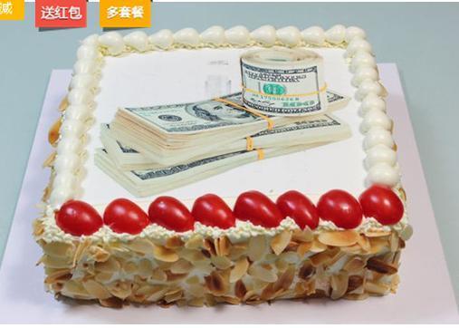 数码蛋糕 1磅 正方形