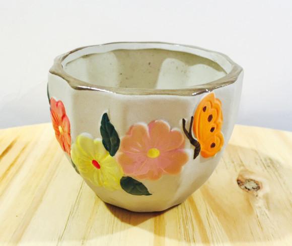 多乐园艺 韩式花纹盆
