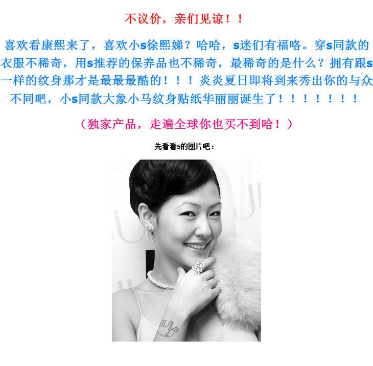 特价淘宝独家原创个性康熙来了徐熙娣小s同款防水男女纹身贴纸