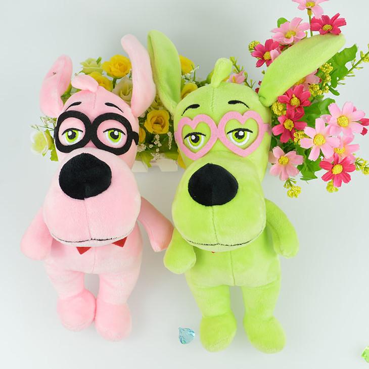 眼镜小狗毛绒玩具可爱女生生日礼物儿童玩偶