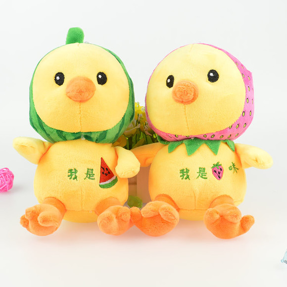 西瓜草霉小黄鸡毛绒玩具可爱女生生日礼物儿童玩偶