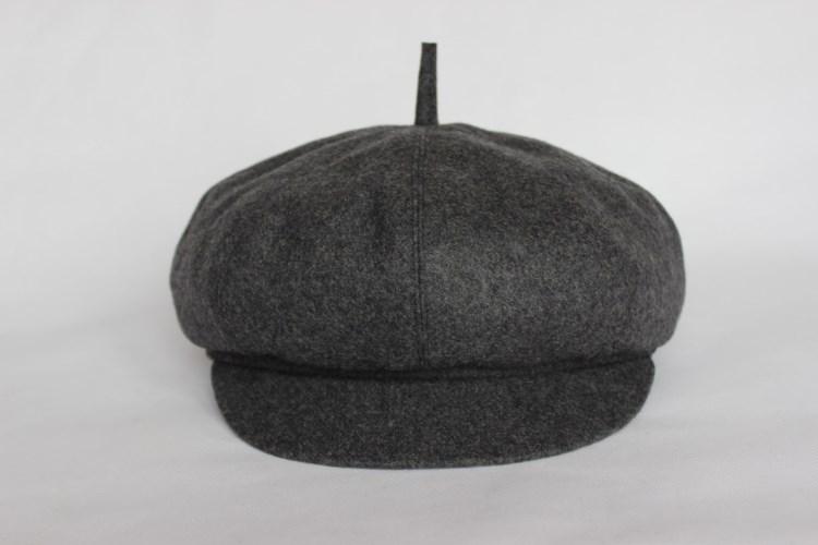 春天男士中老年帽子春秋天毛呢博士帽老头八角帽画家