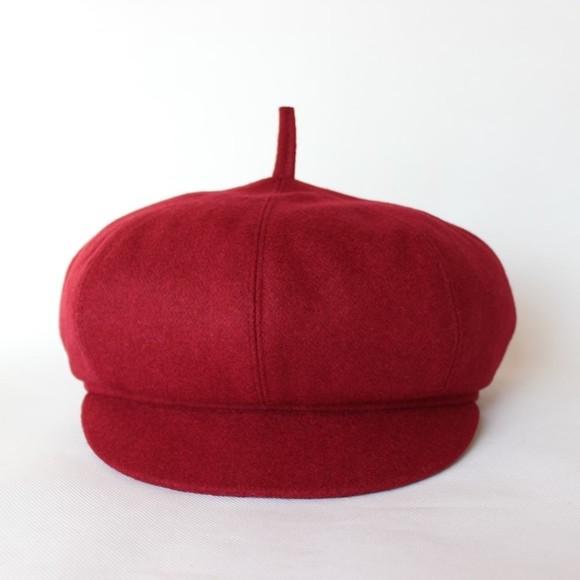 春天男士中老年帽子春秋天毛呢博士帽老头八角帽画家帽女士报童帽图片