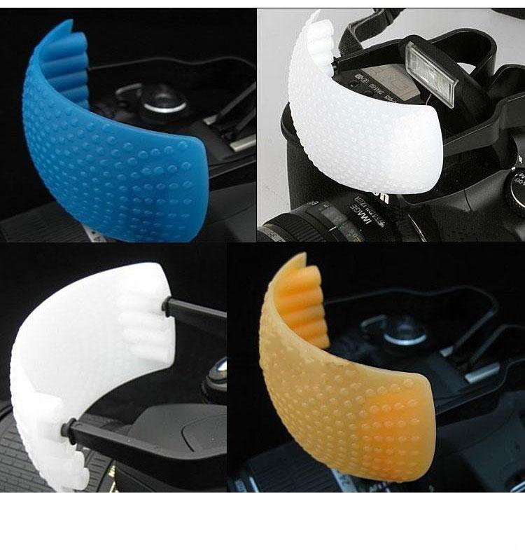 caden卡登 单反相机可调式内闪光灯机顶柔光罩 白,橙