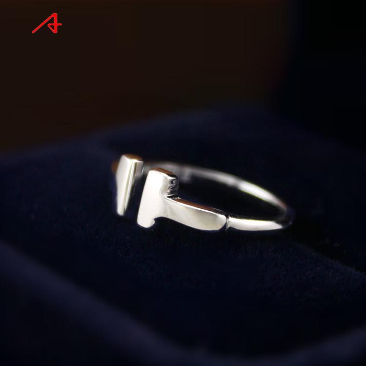 阿尤s925纯银戒指 对我而言可爱的她郑秀晶同款双t女