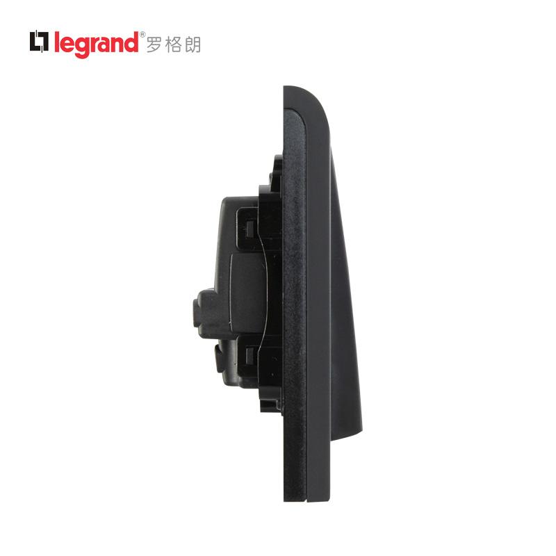 tcl罗格朗k5二开单控开关(黑色)