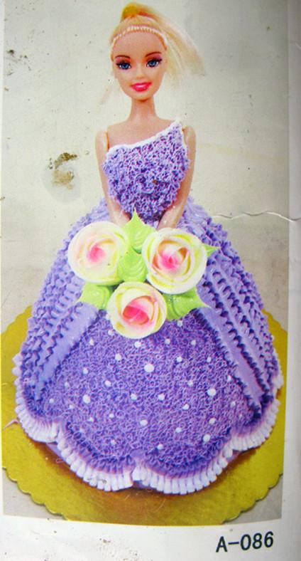 华蓥麦加利生日蛋糕 卡通水果蛋糕芭比娃娃创意蛋糕