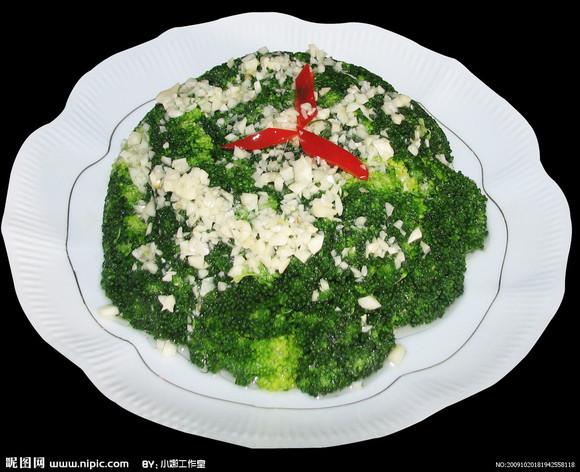 商品详情 菜品名称:蒜蓉西兰花 主料:西兰花330g,红椒1个 辅料:大蒜头