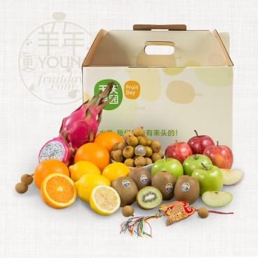 过节送礼就送精品水果礼盒噢!里面有5款进口水果搭配!图片