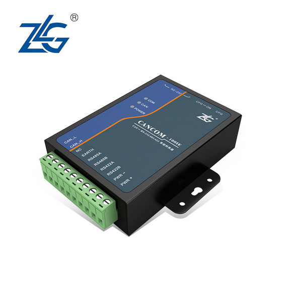 周立功工业级串口转can接口rs232/485/422转can转换cancom-100ie