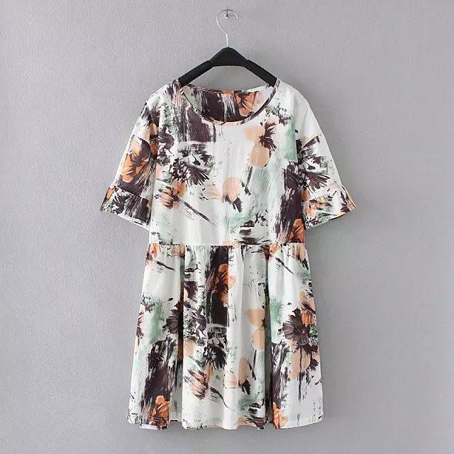 15时尚女装夏季新款韩版水墨画连衣裙 - 七浦路服装网
