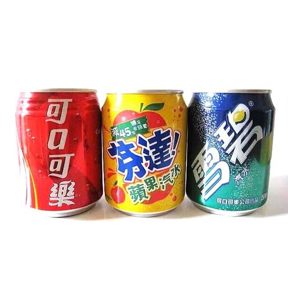 台湾进口饮料汽水(胖仔可乐罐装 )