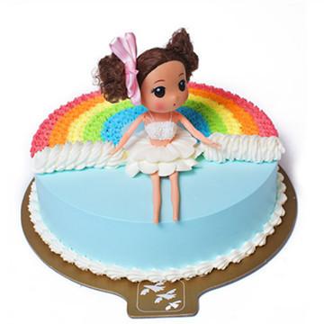 商品详情 彩虹蛋糕 海绵蛋糕,松软口感;两层鲜果夹层,清新爽口;缤纷