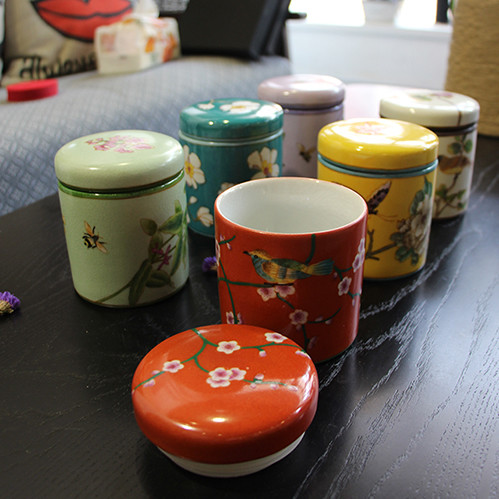 花韵系列 手绘陶罐
