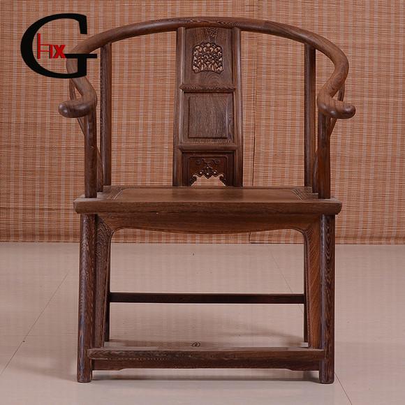 红木家具 鸡翅木圈椅办公椅 榫卯结构实木休闲皇宫围椅 太师椅子