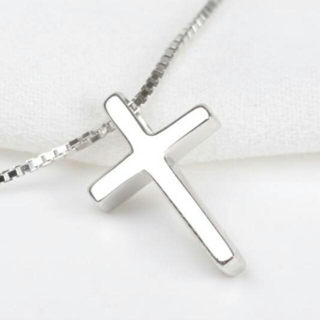 [神悦]复古 女士纯银十字架吊坠配黑绳       手机启动微信图片