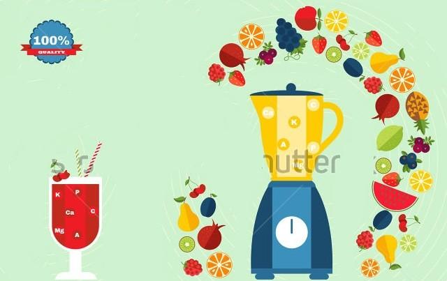 新鲜美味的水果汁
