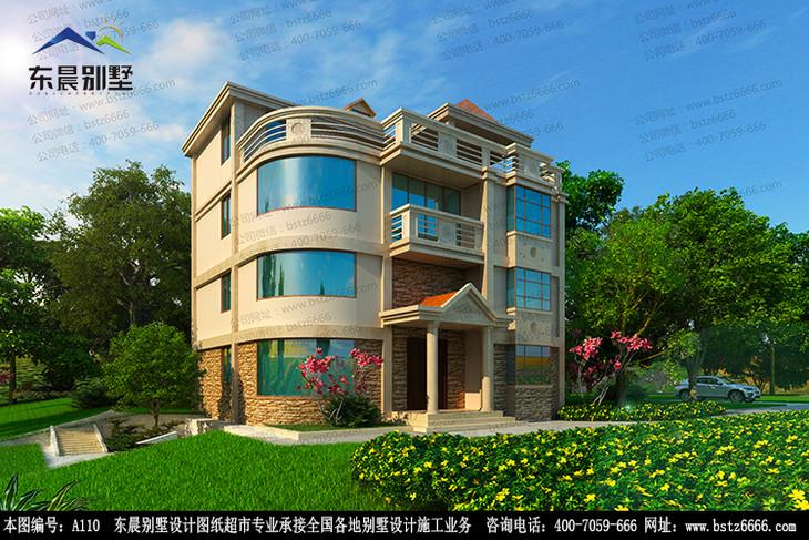 四层带阳台露台及阁楼自建房别墅设计建筑施工图纸