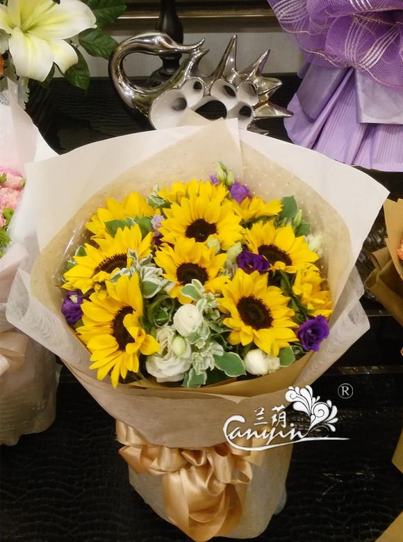 向日葵欧式花束 - 兰荫鲜花