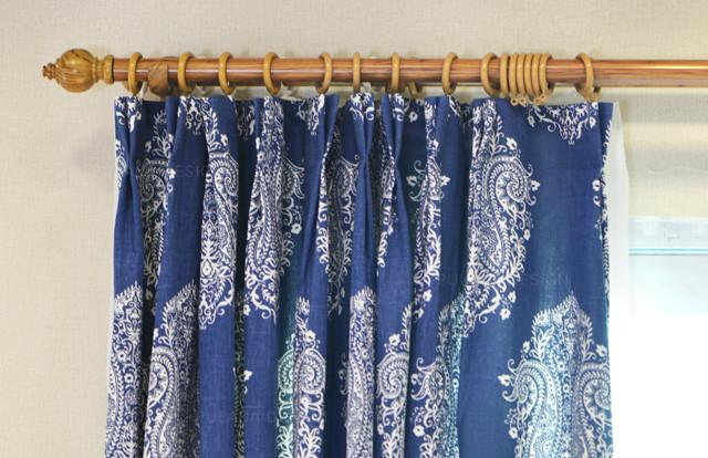 pulaca舒棉系列藏蓝色窗帘