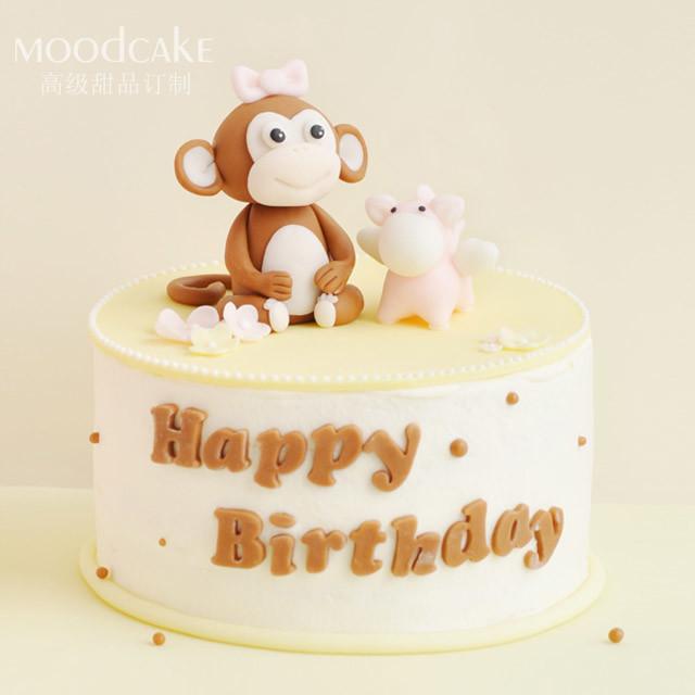 蛋糕猴子动物造型
