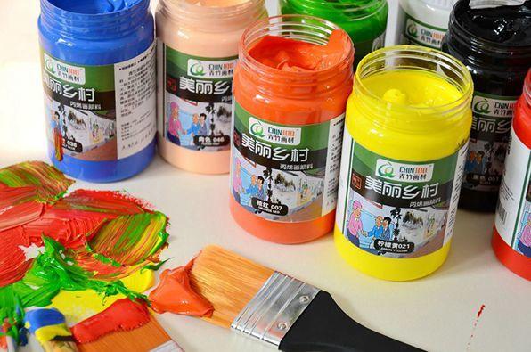 青竹牌美丽乡村丙烯画颜料墙绘手绘纺织丙烯颜料300ml