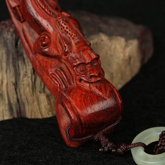 阿尤 印度小叶紫檀木雕工艺品如意 紫檀把件 挂件/文玩收藏