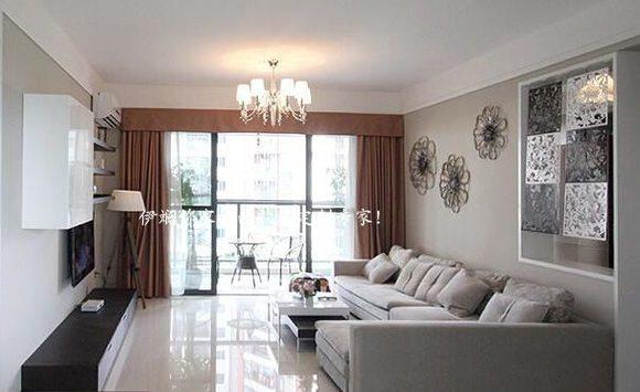 韩国素色高精密窗帘 客厅卧室阳台美式简约超垂感窗帘
