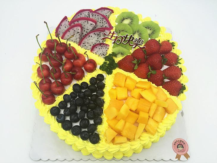 水果拼盘蛋糕图片