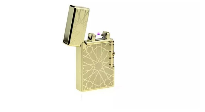 朗声电弧打火机防风创意个性金属电子点烟器usb充电打