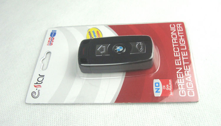 宝马车钥匙/usb充电打火机/创意超薄防风/电子点烟器
