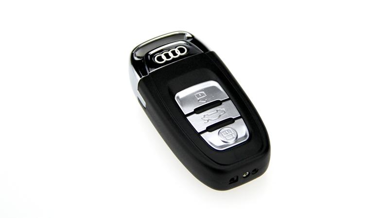 奥迪车钥匙电弧打火机 充电打火机 usb打火机创意 电子点烟器