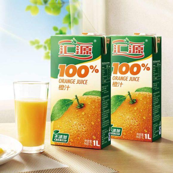 汇源果汁官网_汇源100%橙果汁1l6盒 便携装