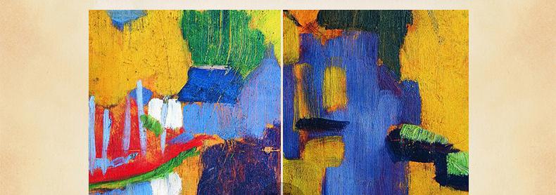 欧式壁画 装饰画 客厅 现代有框抽象油画 保罗塞吕西耶 爱神森林