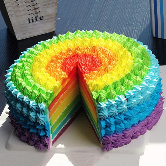 神奇搅拌机与彩虹千层蛋糕彩绘 亲子互动彩色简笔画扮家家游戏