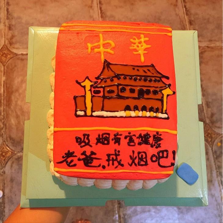 中华香烟盒鲜奶蛋糕 8寸图片