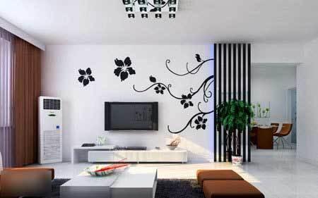 电视背景墙/壁画 - 无缝墙布
