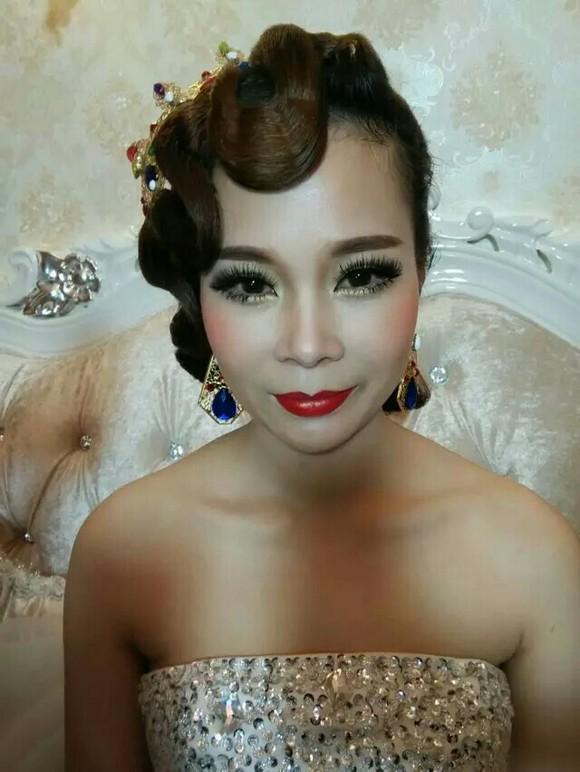 新娘发型,妆面