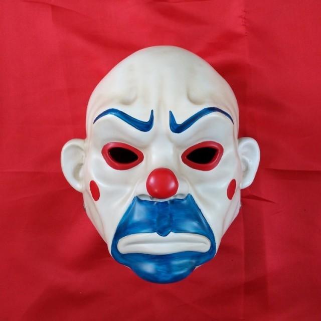 劫匪面具真人可戴蝙蝠侠小丑joker万圣节恐怖黑暗