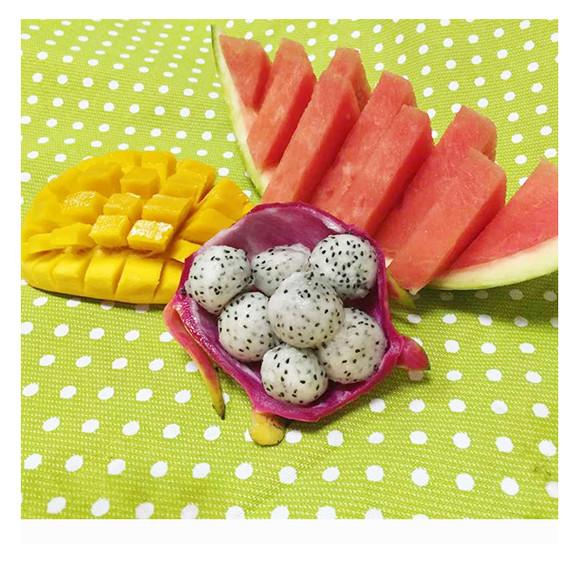 西瓜,芒果,火龙果(切果拼盘)图片